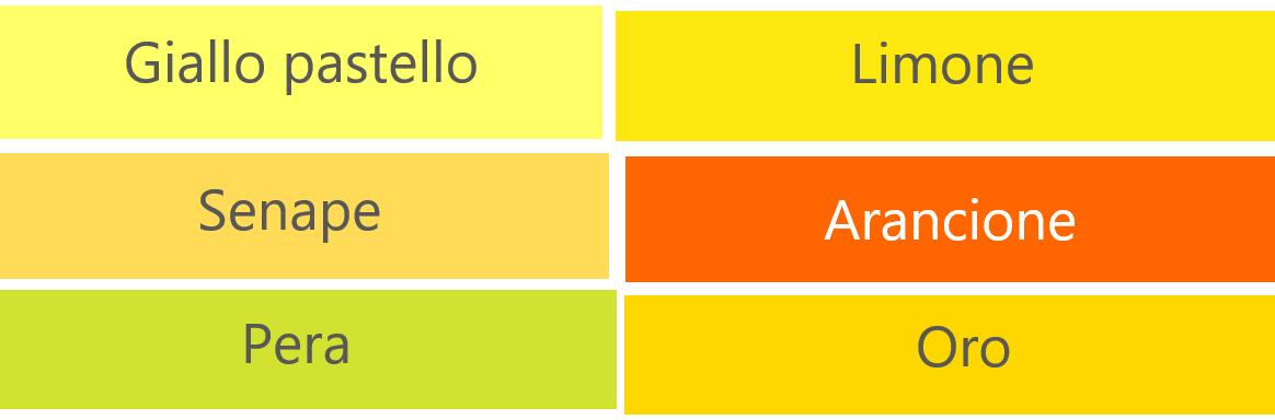 黄系のイタリア語の色