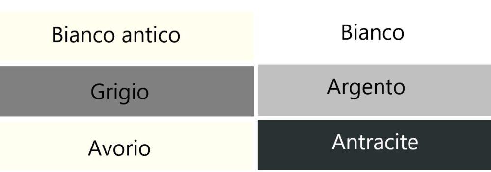 灰色・白色・黒色系のイタリア語