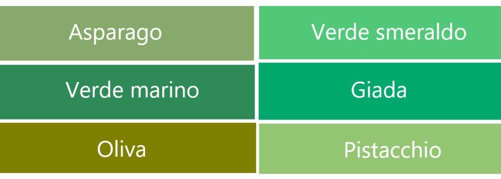 緑系のイタリア語の色